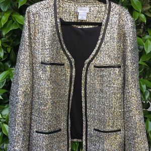 Brand new Tweed and Gold Blazer